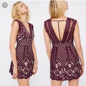 Free People One Million Lovers Mini Lace Dress